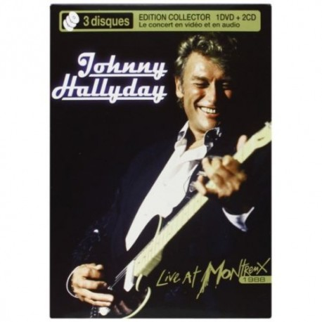 HALLYDAY Johnny : DVD+2CD Live At Montreux 1988