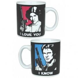 STAR WARS MINI MUGx2 I LOVE YOU / I KNOW