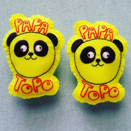 FEUTRINE BADGE : Papa Topo