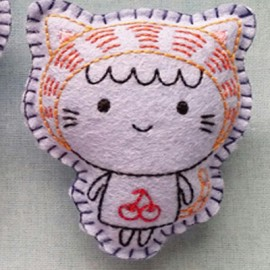 FEUTRINE BADGE : Quirklyn the Cat Girl