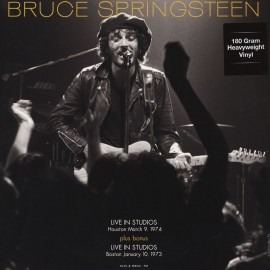 SPRINGSTEEN Bruce : LP Live In Studios Houston March 9, 1974 & Boston January 10, 1973