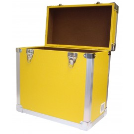 BOX RECORD STORAGE CARRY CASE YELLOW