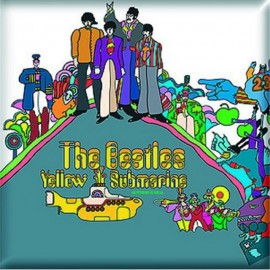 BEATLES (the) - MAGNET : Yellow Submarine (Carré)