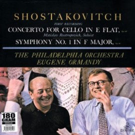 SHOSTAKOVITCH Dimitri : LP Cello Concerto Opus 107 Symphony 1 Opus 10