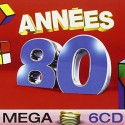 VARIOUS : CDx6 Mega Années 80