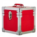 "BOX RECORD 7"" STORAGE CARRY CASE RED"