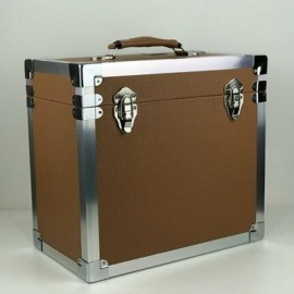 BOX RECORD STORAGE CARRY CASE RED