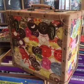 BOX RECORD STORAGE CARRY CASE RETRO