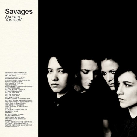SAVAGES : LP Silent Yourself