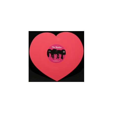 """BEATLES (the) : 10""""EP Love Me Do Pink Heart"""