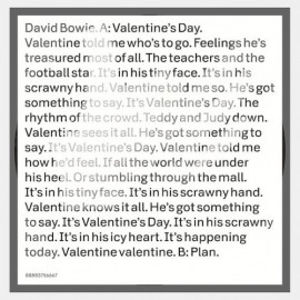 BOWIE David : Valentine's Day