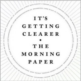THE MORNING PAPER : It's getting clearer