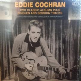 EDDIE COCHRAN : CDx4 Two Classic Album Plus Singles And Session Tracks