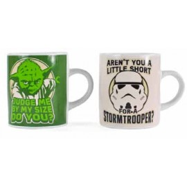 STAR WARS MINI MUGx2 Yoda & Stormtrooper