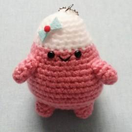 FEUTRINE KEYCHAIN : Tweenie Girl amigurumi Watermelon Pink
