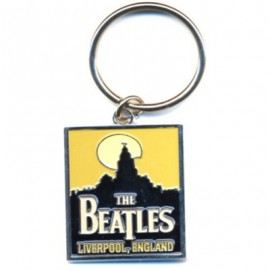 BEATLES (the) KEYRING : Liverpool Metal Keyring