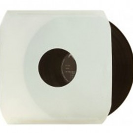SOUS-POCHETTE LP PAPIER BLANC AVEC TROU x 10
