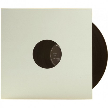 SOUS-POCHETTE LP CARTON BLANC DOS CARRE AVEC TROU x5