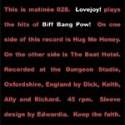 """LOVEJOY : Plays Biff Bang Pow! 7"""""""