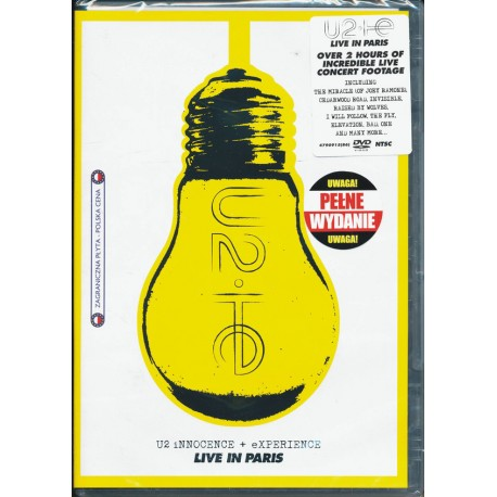 U2 : DVD  Innocence + Experience (Live In Paris)