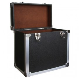 BOX RECORD STORAGE CARRY CASE BLACK