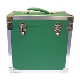BOX RECORD STORAGE CARRY CASE GREEN