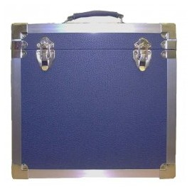 BOX RECORD STORAGE CARRY CASE NAVY
