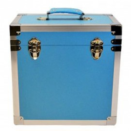 BOX RECORD STORAGE CARRY CASE LIGHT BLUE