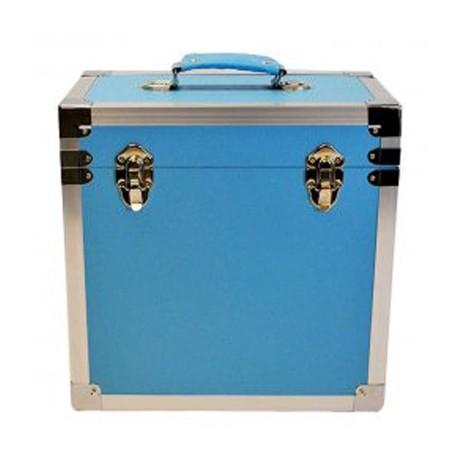 BOX RECORD STORAGE CARRY CASE LIGHT BLUE