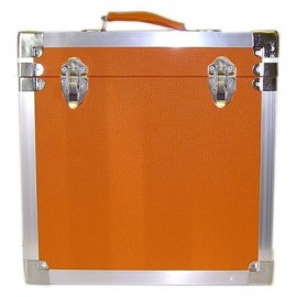 BOX RECORD STORAGE CARRY CASE ORANGE