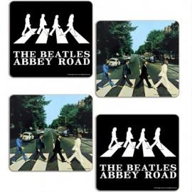 BEATLES (the) SOUS-VERRE : Abbey Road Set Of 4.