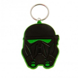 STAR WARS KEYRING : Rogue One - Death Trooper Rubbe