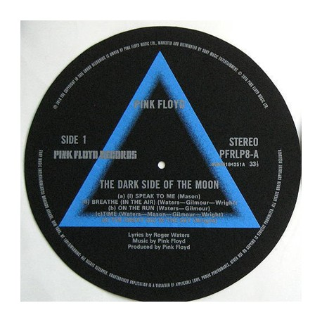 TURNTABLE FELT - FEUTRINE - The Dark Side Of The Moon