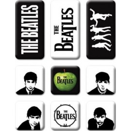 BEATLES (the) - MAGNET : 9 Pieces Classic Icons