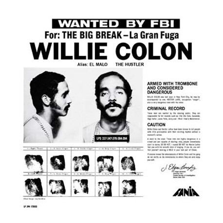 COLON Willie : LP Wanted By The FBI