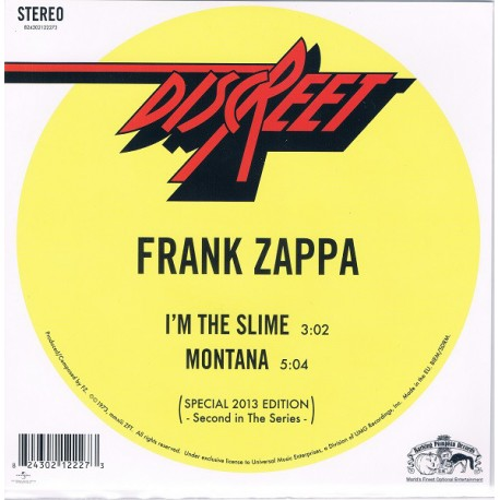 ZAPPA Frank : I'm The Slime