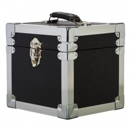 "BOX RECORD 7"" STORAGE CARRY CASE BLACK"