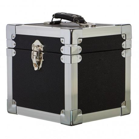 "BOX RECORD 7"" STORAGE CARRY CASE BLACK"