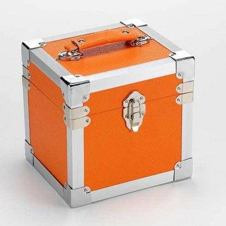 "BOX RECORD 7"" STORAGE CARRY CASE ORANGE"