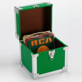 "BOX RECORD 7"" STORAGE CARRY CASE GREEN"