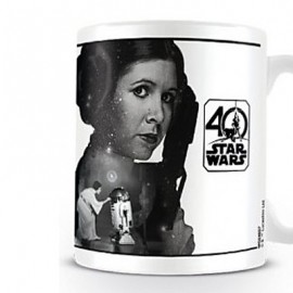 STAR WARS  MUG : Leia Star Wars 40th Anniversary