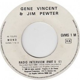 2nd HAND / OCCAS : VINCENT Gene : Gene Vincent, Jim Pewter - Radio Interview