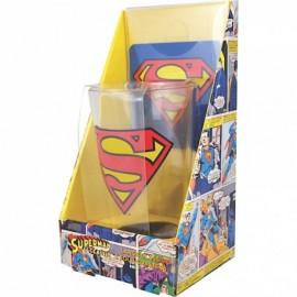 SUPERMAN VERRE + SOUS-VERRE : Logo Superman