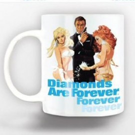 JAMES BOND MUG : Diamonds Are Forever