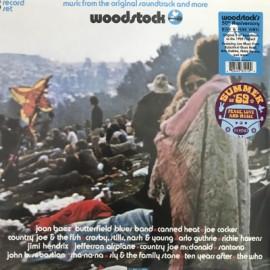 VARIOUS : LPx3 Woodstock - Stereo, Blue & Pink