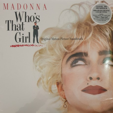 MADONNA : LP  Who's That Girl (clear)