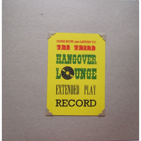 """VARIOUS : 10""""EP The Third Hangover Lounge EP"""