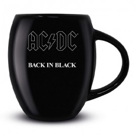 AC/DC MUG : Back In Black Oval Mug