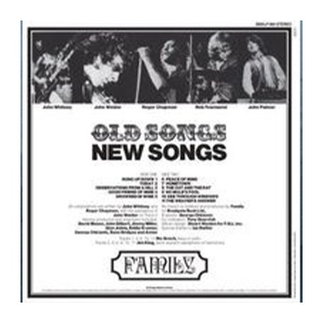 FAMILY (prog GB) : LP Old Songs New Songs