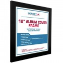VINYLS- CADRE : Noir - Album Cover Frame Black Wood